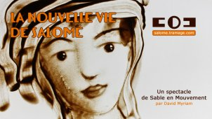 "2015 : : Dessin en direct sur sable : : Spectacle ""La nouvelle vie de (...)"